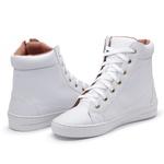Sapatênis Feminino Cano Alto Top Franca Shoes Branco