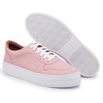 Tênis Feminino Top Franca Shoes Sola Alta Rosa
