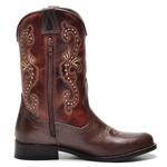 Bota Country Feminina Top Franca Shoes Castor / Conhaque