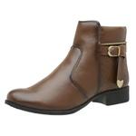 Bota Coturno Feminino Top Franca Shoes Capuccino