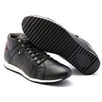 Tênis Sapatênis Conforto Anatômico Top Franca Shoes Cano Alto Preto