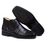 Bota Botina Social Masculino Bico Fino Conforto Top Franca Shoes Preto