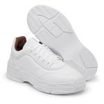 Sapatênis Feminino Sola Alta Top Franca Shoes Branco