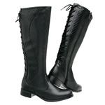 Bota Feminina Montaria Regulagem Top Franca Shoes Preto