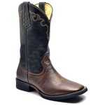 Bota Country Texana Top Franca Shoes Mustang Cafe / Preto