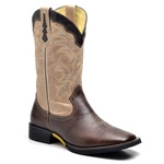 Bota Country Texana Top Franca Shoes Fossil Cafe / Marmore