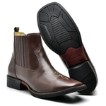 Bota Country Texana Top Franca Shoes Pull Up Cafe