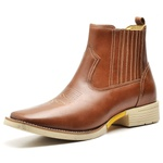 Bota Country Texana Top Franca Shoes Pull Up Caramelo