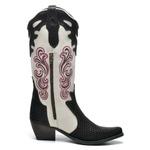 Bota Country Feminina Bico Fino Top Franca Shoes Escama Cafe / Gelo