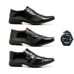 Kit com 3 Sapatos Sociais + 1 Relógio