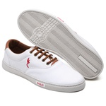 Kit 2 Pares Sapatênis Casual Top Franca Shoes Branco / Cinza