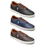 Kit 3 Pares Sapatênis Casual Top Franca Shoes Preto / Azul / Café