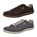 Kit 2 Pares Sapatênis Casual Top Franca Shoes Cafe/ Chumbo