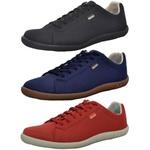 Kit 3 Pares Sapatênis Casual Top Franca Shoes Preto / Azul / Vermelho