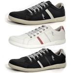 Kit 3 Pares Sapatênis Casual Top Franca Shoes Cinza / Preto