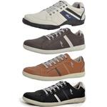 Kit 4 Pares Sapatênis Casual Top Franca Shoes Cinza / Café / Camel / Preto