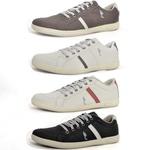 Kit 4 Pares Sapatênis Casual Top Franca Shoes Café / Cinza / Preto