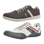 Kit 2 Pares Sapatênis Casual Top Franca Shoes Café / Cinza
