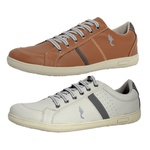 Kit 2 Pares Sapatênis Casual Top Franca Shoes Camel / Cinza
