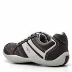 Kit Sapatênis Infantil Casual Top Franca Shoes Preto+ Cinto e Meia