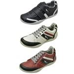Kit 3 Pares Sapatênis Casual Infantil Top Franca Shoes Vermelho /Cinza / Preto