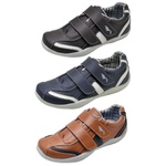 Kit 3 Pares Sapatênis Casual Infantil Top Franca Shoes Camel / Azul / Preto