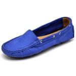 Mocassim Drive Sider Feminino Top Franca Shoes Azul Bic