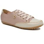 Mocatênis Feminino Top Franca Shoes Rose e Bege