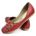 Sandália Sapatilha Feminina Top Franca Shoes Bordo