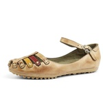 Sandália Sapatilha Feminina Top Franca Shoes Bege