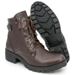 Bota Coturno Feminino Top Franca Shoes Café