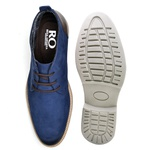Sapato Social Oxford Top Franca Shoes Azul