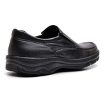 Sapato Social Masculino de Calçar Ortopédico Flexível e Conforto Preto