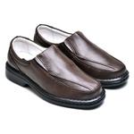 Sapato Social Masculino de Conforto Anatômico Ortopédico e Super Flexível Café