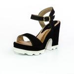 Sandália Feminina Top Franca Shoes Salto Grosso Preto