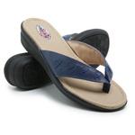 Sandália Chinelo de Dedo Conforto Anatomico Ortopédica Azul