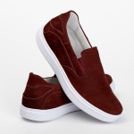 Tênis Sapatênis Slip Casual Top Franca Shoes Bordo