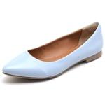 Sapatilha Feminina Bico Fino Top Franca Shoes Azul Bebê