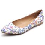 Sapatilha Feminina Bico Fino Top Franca Shoes Floral Jalapão