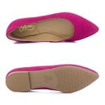 Sapatilha Feminina Bico Fino Top Franca Shoes Rosa Pink