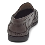 Sapatilha Mocassin Masculino Top Franca Shoes Café