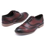 Sapato Social Brogue Top Franca Shoes Café