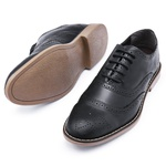 Sapato Social Brogue Top Franca Shoes Preto