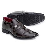 Sapato Social Verniz Top Franca Shoes Café