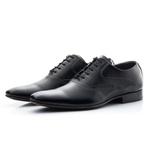Sapato Social Clássico Masculino Preto Solado De Couro
