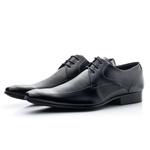 Sapato Social Com Cadarço Preto Solado De Borracha