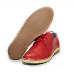 Sapato Social Feminino Inglês Casual Top Franca Shoes Vermelho