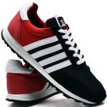 Tênis Sport Fit Top Franca Shoes Preto e Vermelho