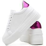 Tênis Feminino Top Franca Shoes Sola Alta Branco