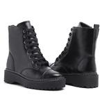 Bota Coturno Militar Motociclista Feminina Top Franca Shoes Preta